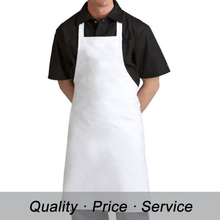 White Cotton Long Knee Kitchen Bib Apron