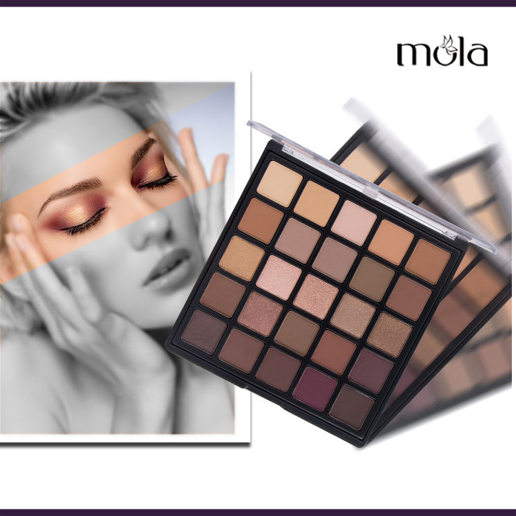 Mola 25 color eyeshadow square palette private label eyeshadow low moq eyeshadow palette