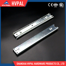 Ball bearing bayonet mounting rail for kitchen cabinets telescopic channel