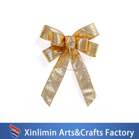 2015 Wholesale pre-tied satin ribbon pre-made bow