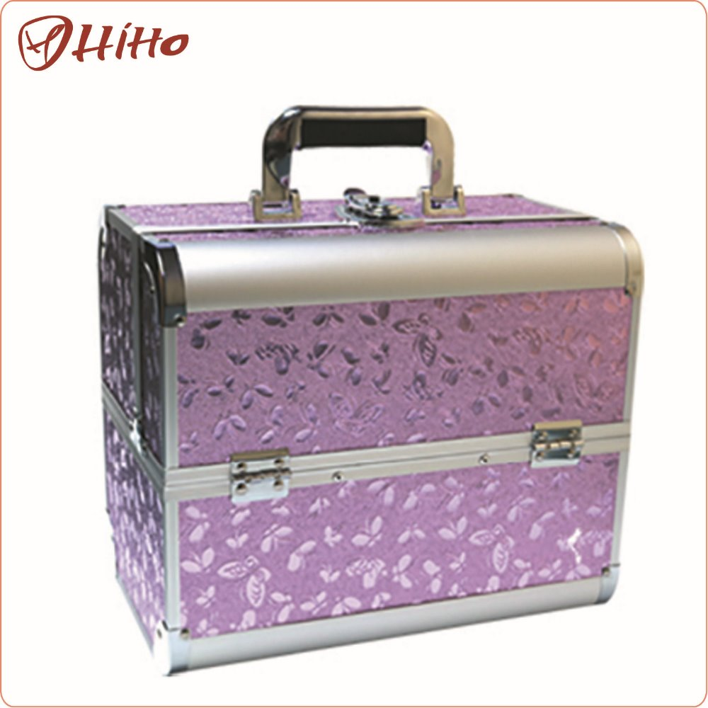 Personalized Antique Portable Cosmetic Travel Case