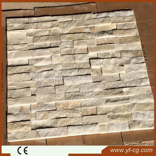 Nature self adhesive culture stone wall tile / textured stone wall tile/ faux brick wall
