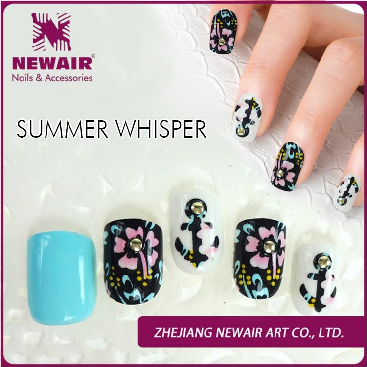 3D rock style fake nail free sample nail art punk nail tips, View ...