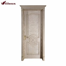 Open Paint Fancy Wood Door Design Hand Carved