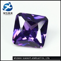 China wholesale amethyst square shape cz rough stone /korea amethyst price carat