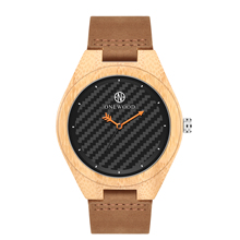 Bamboo Watch Men High Quality Japan Movt Leather Strap Quartz Simple Style Mens Watch OEM Custom Wristwatch Wrist Wooden Watch