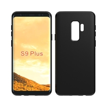 Factory price soft black pudding matte gel tpu case for samsung s9 plus