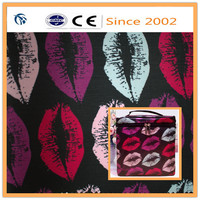 pvc foam fashionable design printed satin fabric