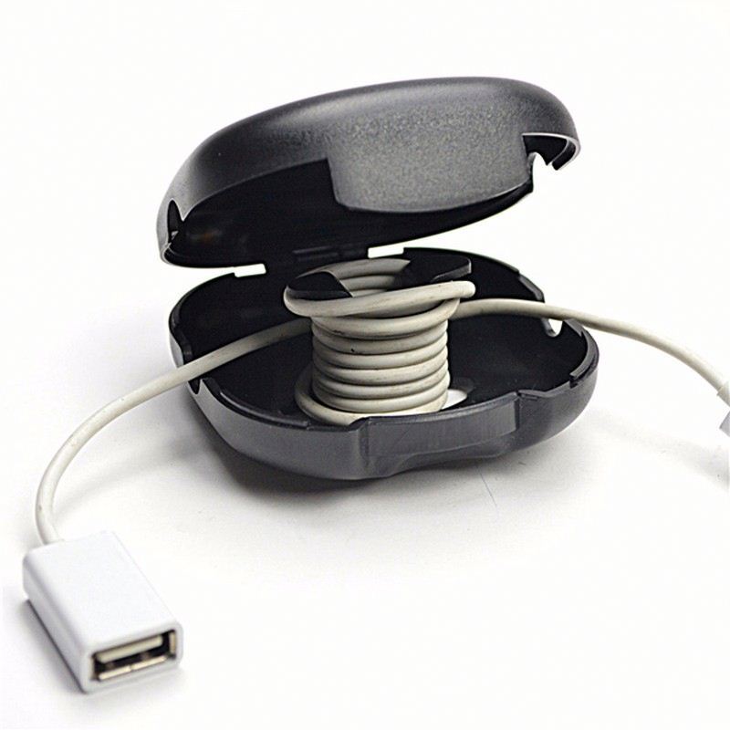 585 ABS Boomray USB cable winder cord wrap silicon holder wholesale