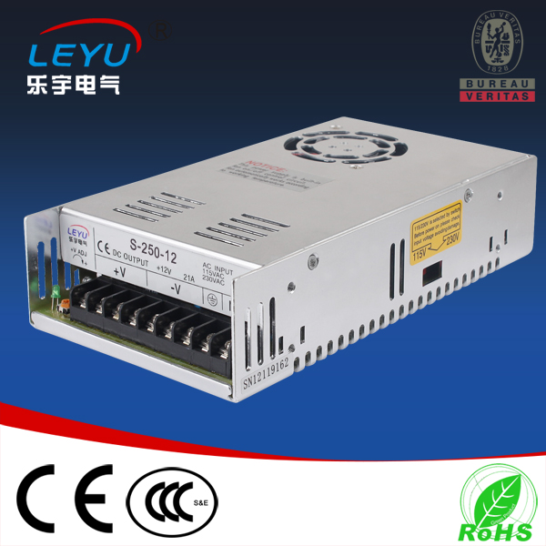 250w 15v overvoltage protection power supply S-250-15 single output switching power supply