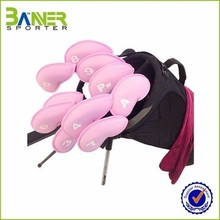 Protective neoprene golf clubs head cover with number label one set