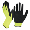 NMSAFETY latex hand protective gloves/ glove polyester