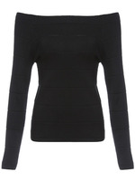 Sweaters Tops fashion women christmas latest design Black Boat Neck Slim Knitwear