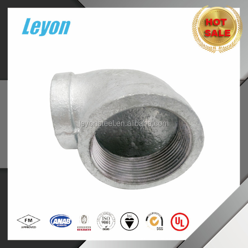 Cast/Malleable Iron Good Quality and Price of Galvanized Reducing Elbow Pipe Fittings