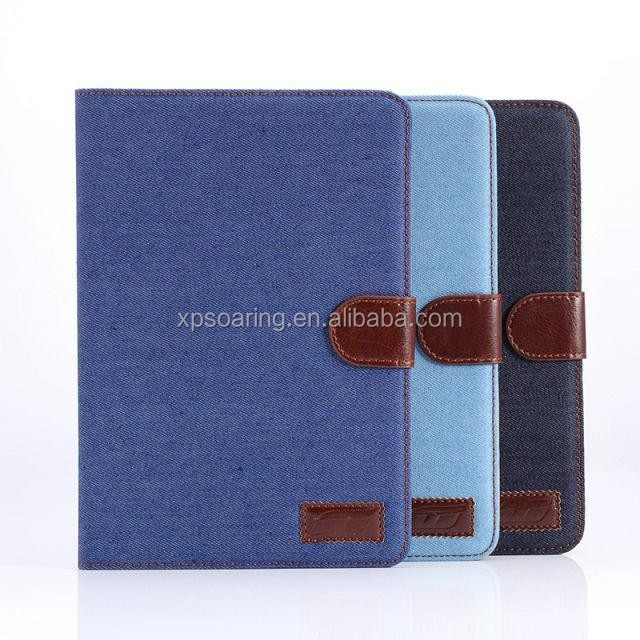Jeans PU case for ipad mini 3 mini 2, leather case for ipad mini 3