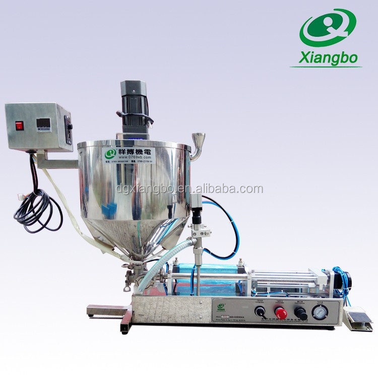 Semi auto honey filling machine with heater and mixer