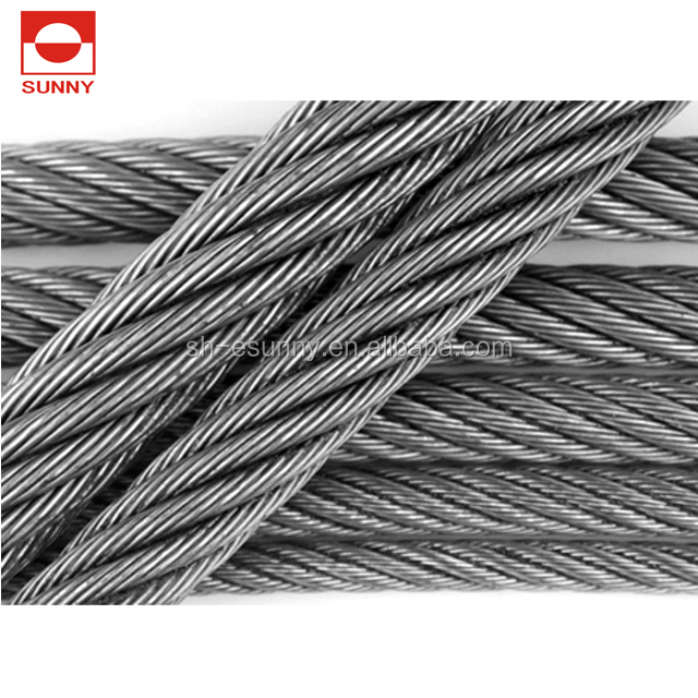 8mm 8*<strong>19</strong> pp elevator steel wire rope for traction machine and speed governor