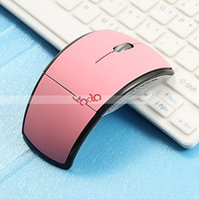 Foldable Mouse 2.4G Computer Gaming Wireless Mouse Pink