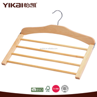 wooden vertical saving space pants/trousers/hanger, closet organizer helper