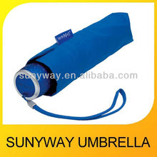 UV Sun Blue Folding Umbrella with Bag