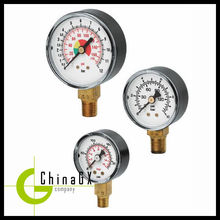 "50mm / 2"" ss316 silicone oil filled vacuum cng pressure gauge"