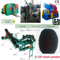 Waste Rubber Tyre Recycle Machine / Used Tyre Recycling Plant / Waste Tyre Steel Wire Bead Extractor
