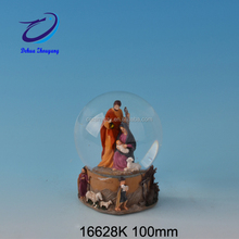 resin religious manger set nativity snow globe
