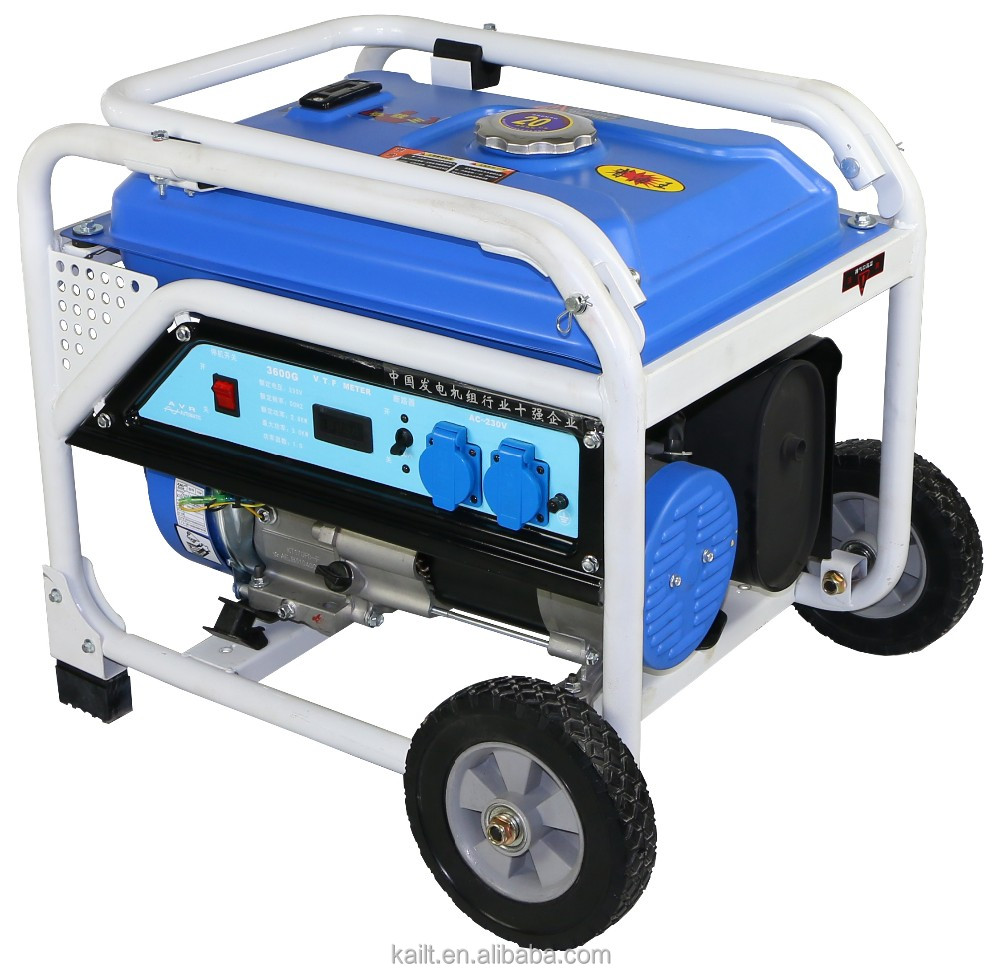 OEM factory large supply 100% copper wire / small petrol generator 2.2KW 3hp Honda engine powered generator for home use