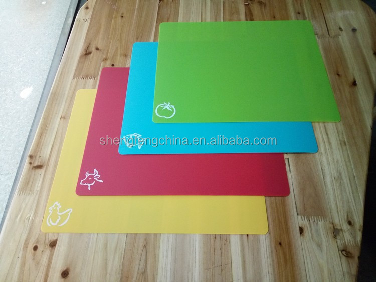 4 pieces high quality plastic cutting board non-slip