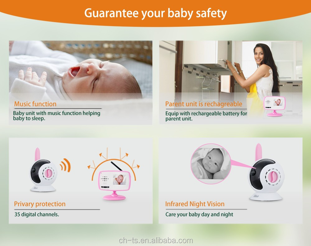 BM-251 digital low interference baby monitor video camera