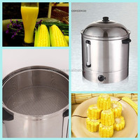 48L 220V temperature adjustable stainless steel electric 2 layers sweet corn cooking pot steamer for sale