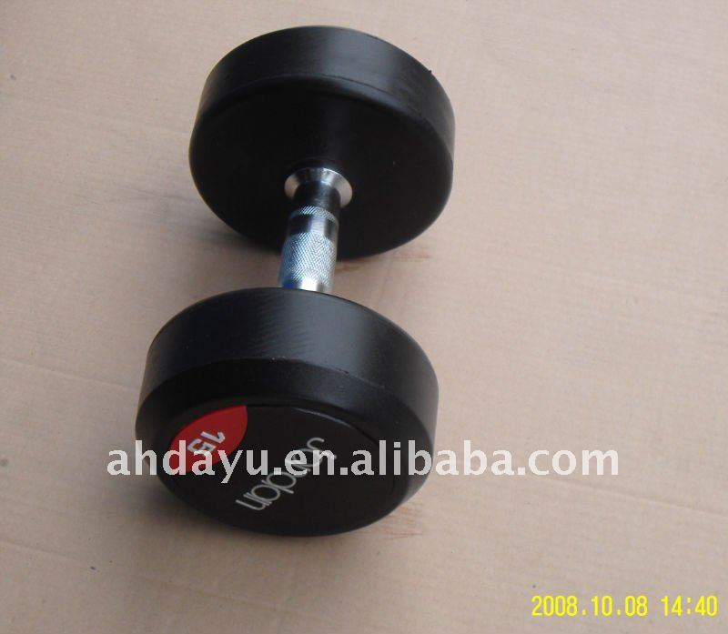Fixed Dumbbell/Pro-style rubber coated dummbbell/barbell with straight bar or curl bars