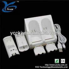 best selling remote charger for wii blue light charge station and battery pack (2 pcs 2800 mAh battery pack) paypal accepted