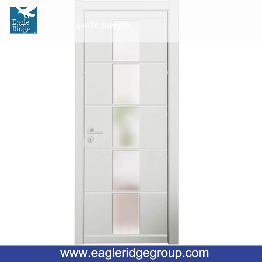MSPD34 Wooden Doors Design Modern Matte Lacquer Interior Flat Glass Door