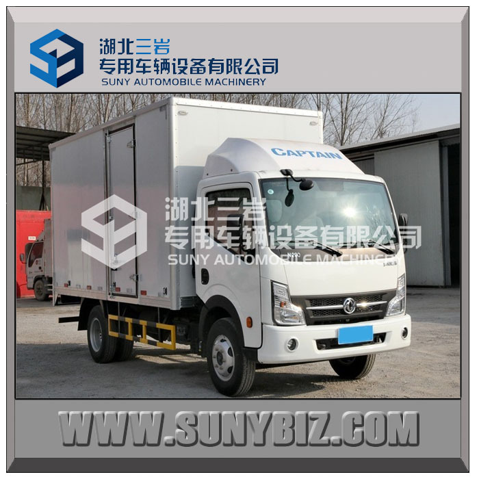 DONGFENG CAPTAIN 4*2 light cargo van truck/cargo box truck/lorry truck