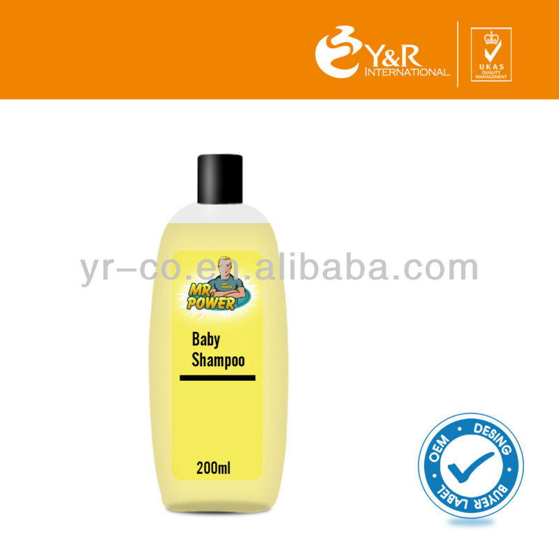 Natural and mild baby shampoo