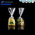 Custom Printed Clear Plastic Block Bottom Cellophane Gift Bags