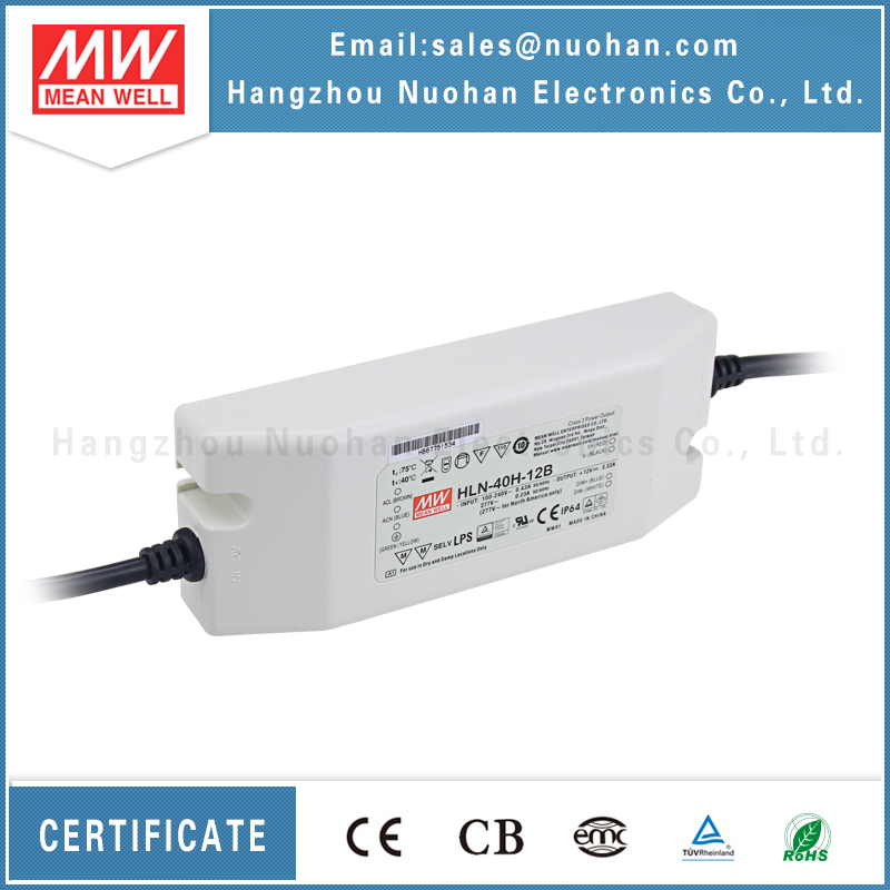 Meanwell HLN-40H-12 40W 12V led driver 12v dimmable transformer/led driver 40w 12v