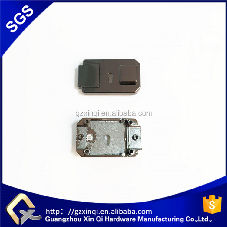 Gunmetal hanging high quality plating coating bag turn lock in bag hardware