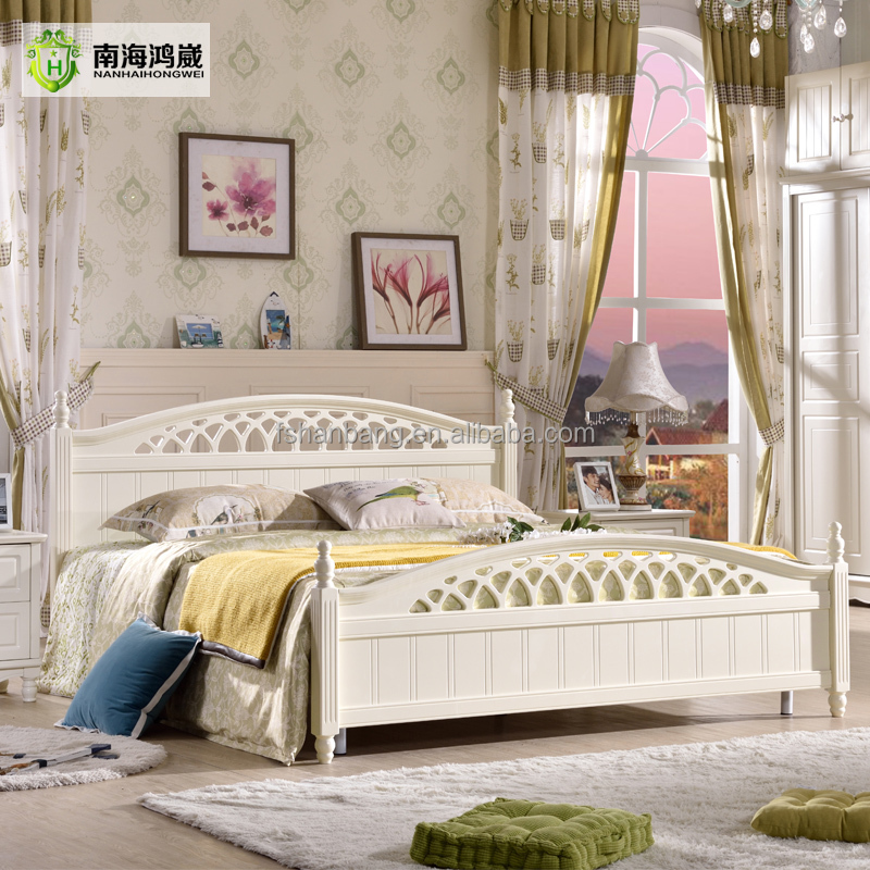 hotsale white king queen double single size timber bed - Wholesale Bed Frames