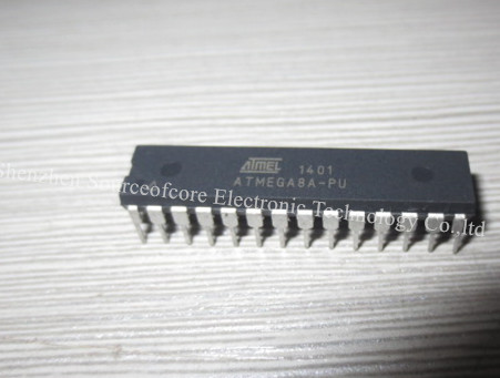ATMEGA8A-PU ATmega Microcontroller IC 8-Bit 16MHz 8KB FLASH 28-PDIP