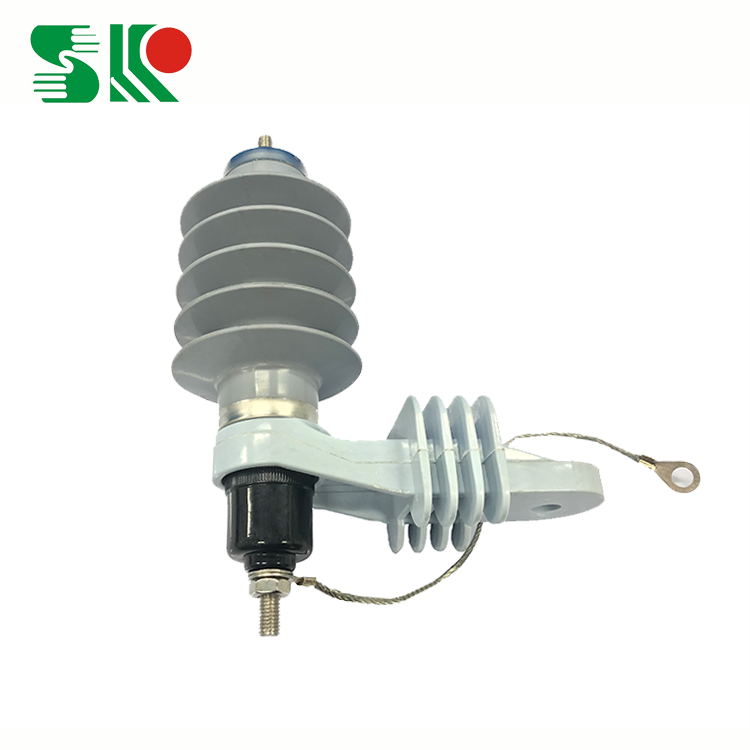 Best Selling Housed Polymeric Housed Metal-Oxide silicone rubber Power lighting arrester