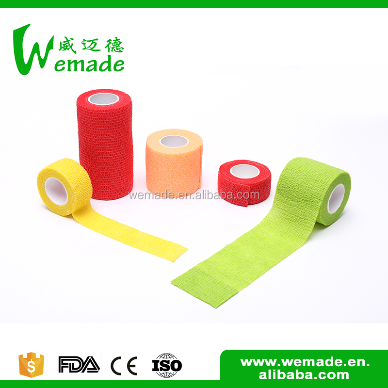 Fitness Custom made medical color bandage sports injury tape