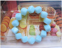 Kid Fresh acrylic jelly color beaded bracelet square plastic bead bracelet for promotion