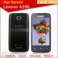 Hot Selling lenovo A390 Factory Price Cheap 4.0 Os MTK6577 Dual core RAM 512 ROM 4GB mobile phone