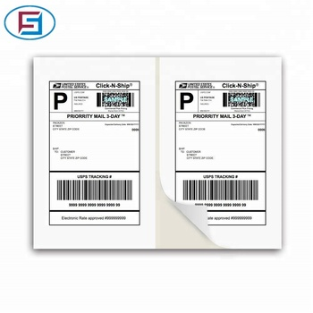 Half A4 Sheet Self Adhesive Shipping Labels for Laser & Inkjet Printers