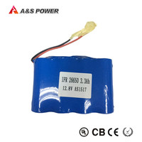 power supply 12v 26650 lithium iron phosphate battery pack with connector