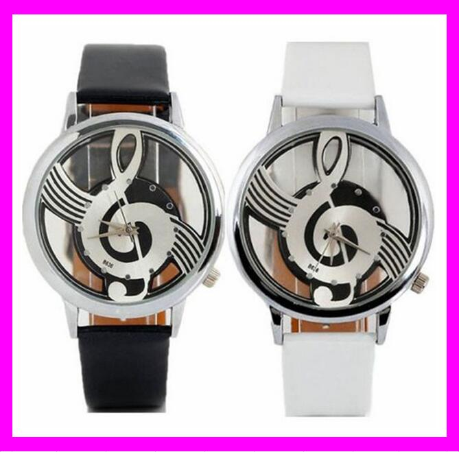 KDA3440 Wholesale Cheap ladies leather music skeleton wrist watches