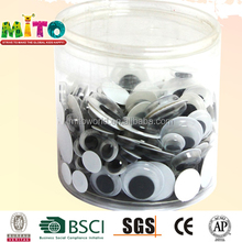 White and black plastic round doll eyes of stuffed toys