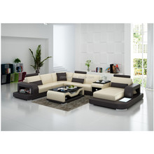 Latest customized ready made leather cover sofa in china